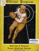 1933 Football Program - UT vs Virginia Tech