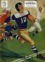 1938 Football Program - UT vs LSU