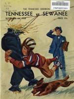 1938 Football Program - UT vs Sewanee