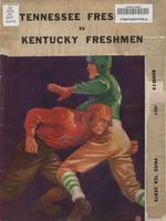1937 Football Program - UT vs Kentucky (Freshmen)