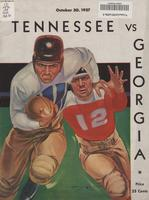 1937 Football Program - UT vs Georgia