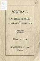 1936 Football Program - UT vs Vanderbilt (Freshmen)