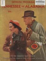 1935 Football Program - UT vs Alabama