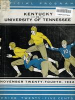 1932 Football Program - UT vs Kentucky