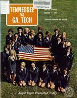 1969 Football Program - UT vs Georgia Tech