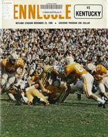 1968 Football Program - UT vs Kentucky