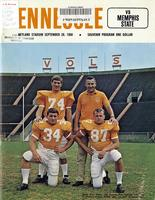 1968 Football Program - UT vs Memphis