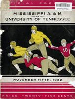 1932 Football Program - UT vs Mississippi State