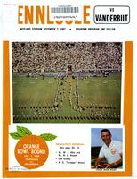 1967 Football Program - UT vs Vanderbilt