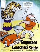 1967 Football Program - UT vs LSU