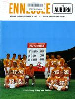 1967 Football Program - UT vs Auburn