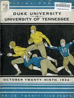 1932 Football Program - UT vs Duke