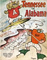1966 Football Program - UT vs Alabama