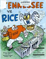 1966 Football Program - UT vs Rice