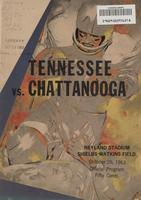 1963 Football Program - UT vs UT-Chattanooga