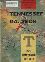 1963 Football Program - UT vs Georgia Tech