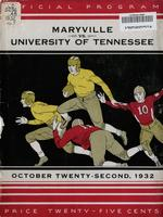 1932 Football Program - UT vs Maryville