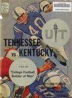 1962 Football Program - UT vs Kentucky
