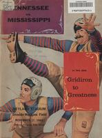 1962 Football Program - UT vs Mississippi