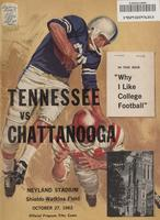 1962 Football Program - UT vs UT-Chattanooga