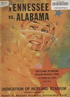 1962 Football Program - UT vs Alabama