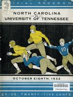 1932 Football Program - UT vs North Carolina