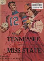 1961 Football Program - UT vs Mississippi State