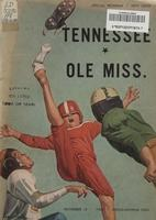 1960 Football Program - UT vs Mississippi