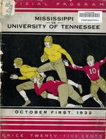 1932 Football Program - UT vs Mississippi