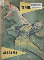 1960 Football Program - UT vs Alabama