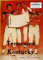1958 Football Program - UT vs Kentucky