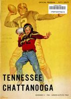 1958 Football Program - UT vs UT-Chattanooga