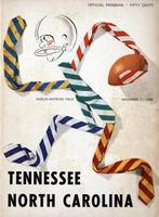 1958 Football Program - UT vs North Carolina