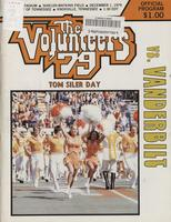 1979 Football Program - UT vs Vanderbilt