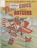1979 Football Program - UT vs Rutgers