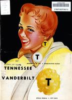 1957 Football Program - UT vs Vanderbilt
