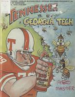 1979 Football Program - UT vs Georgia Tech