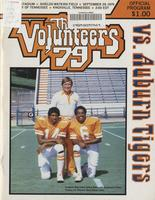 1979 Football Program - UT vs Auburn
