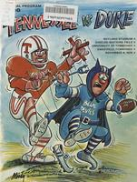 1978 Football Program - UT vs Duke