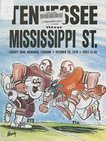 1978 Football Program - UT vs Mississippi State (at Memphis)