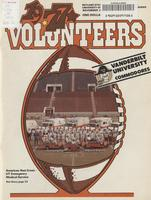 1977 Football Program - UT vs Vanderbilt