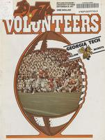 1977 Football Program - UT vs Georgia Tech