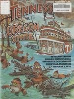 1977 Football Program - UT vs Oregon State
