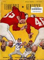 1956 Football Program - UT vs Kentucky
