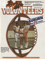 1977 Football Program - UT vs Auburn