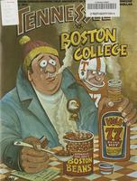 1977 Football Program - UT vs Boston College
