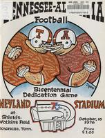 1976 Football Program - UT vs Alabama