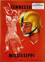 1956 Football Program - UT vs Mississippi