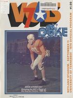 1976 Football Program - UT vs Duke