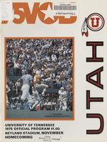 1975 Football Program - UT vs Utah